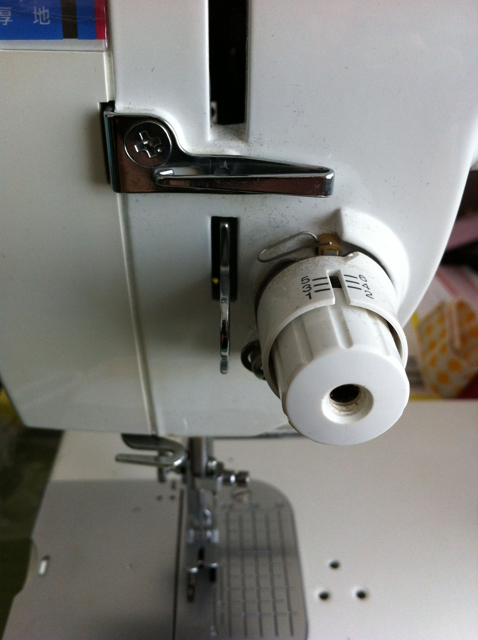 太糸使用時の糸調子