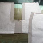 どんでん仕様のベンツあきの縫い方(ミシン編)