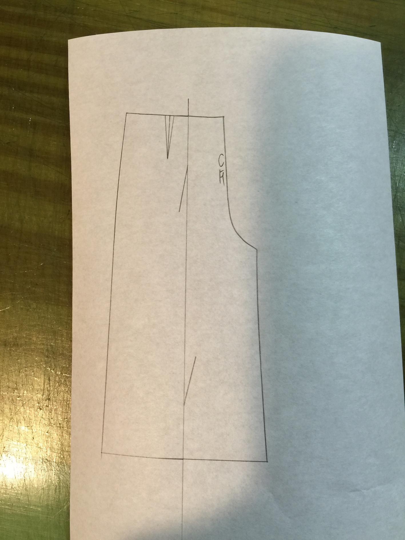 パンツのパターン展開(サイズを変える編)
